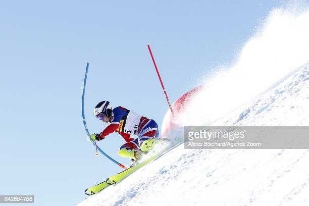 Dave Ryding of Great Britain in action during the FIS Alpine Ski World Championships Men's Slalom on February 19 2017 in St Moritz Switzerland