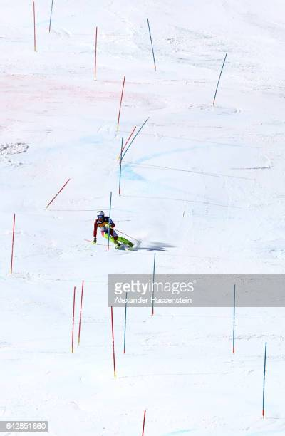 Dave Ryding of Great Britain mcompetes in the Men's Slalom during the FIS Alpine World Ski Championships on February 19 2017 in St Moritz Switzerland