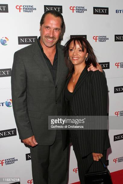 Dave Seaman and wife Debbie during Cystic Fibrosis Breathing Life Awards Arrivals at Royal Lancaster Hotel in London Great Britain