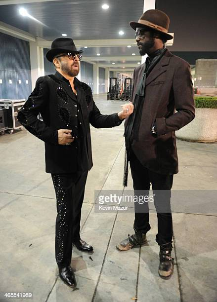 Dave Stewart and Gary Clark Jr attend 'The Night That Changed America A GRAMMY Salute To The Beatles' at Los Angeles Convention Center on January 27...