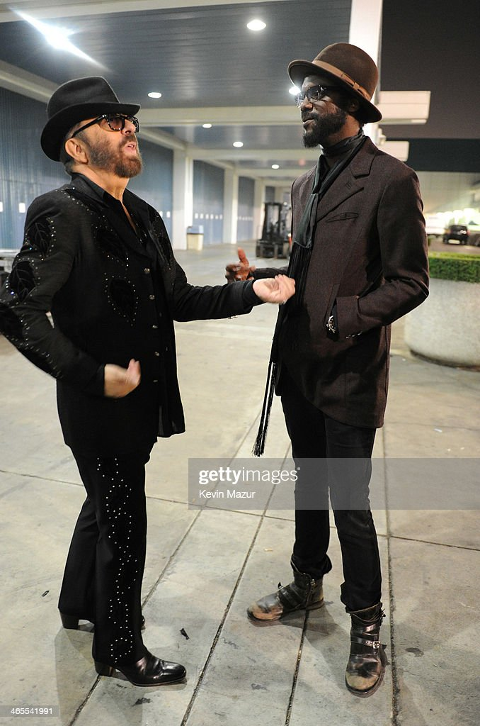 Dave Stewart and <a gi-track='captionPersonalityLinkClicked' href=/galleries/search?phrase=Gary+Clark+Jr.&family=editorial&specificpeople=4495733 ng-click='$event.stopPropagation()'>Gary Clark Jr.</a> attend 'The Night That Changed America: A GRAMMY Salute To The Beatles' at Los Angeles Convention Center on January 27, 2014 in Los Angeles, California.