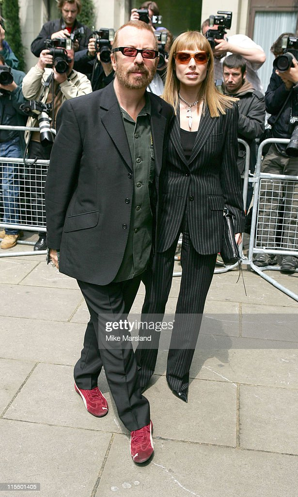 Dave Stewart and guest during 49th Ivor Novello Awards - Arrivals at Grosvenor House in London, Great Britain.