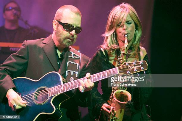 Dave Stewart guitar and Candy Dulfer perform with DUP at the Paradiso on November 11th 2002 in Amsterdam Netherlands
