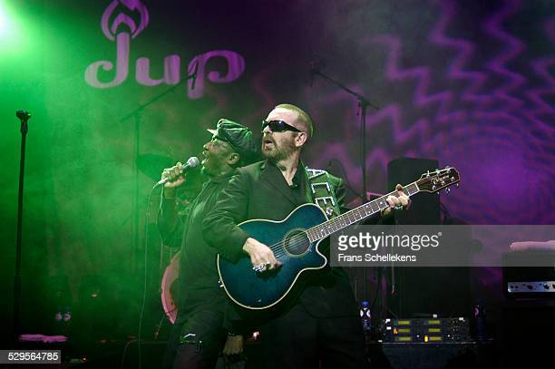 Dave Stewart guitar and Jimmy Cliff perform with DUP at the Paradiso on November 11th 2002 in Amsterdam Netherlands