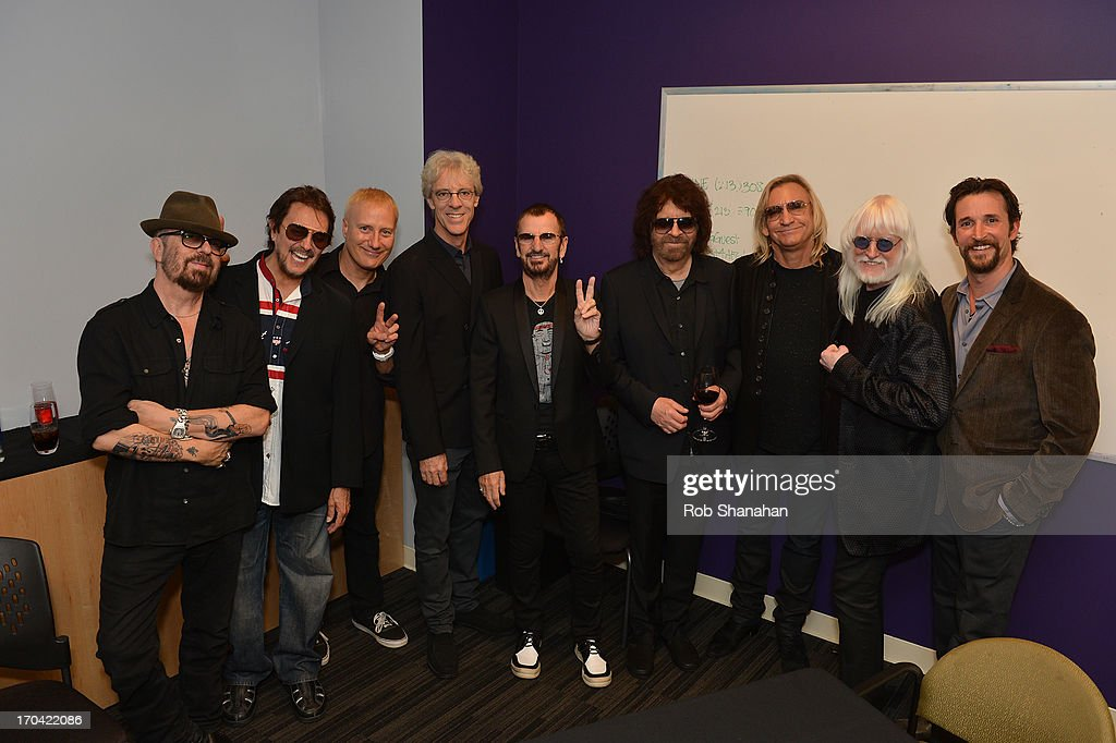 Dave Stewart, <a gi-track='captionPersonalityLinkClicked' href=/galleries/search?phrase=Jim+Keltner&family=editorial&specificpeople=4415090 ng-click='$event.stopPropagation()'>Jim Keltner</a>, Gregg Bissonette, <a gi-track='captionPersonalityLinkClicked' href=/galleries/search?phrase=Stewart+Copeland&family=editorial&specificpeople=228804 ng-click='$event.stopPropagation()'>Stewart Copeland</a>, <a gi-track='captionPersonalityLinkClicked' href=/galleries/search?phrase=Ringo+Starr&family=editorial&specificpeople=92463 ng-click='$event.stopPropagation()'>Ringo Starr</a>, <a gi-track='captionPersonalityLinkClicked' href=/galleries/search?phrase=Jeff+Lynne&family=editorial&specificpeople=1573357 ng-click='$event.stopPropagation()'>Jeff Lynne</a>, <a gi-track='captionPersonalityLinkClicked' href=/galleries/search?phrase=Joe+Walsh+-+Singer&family=editorial&specificpeople=223888 ng-click='$event.stopPropagation()'>Joe Walsh</a>, <a gi-track='captionPersonalityLinkClicked' href=/galleries/search?phrase=Edgar+Winter&family=editorial&specificpeople=829829 ng-click='$event.stopPropagation()'>Edgar Winter</a> and <a gi-track='captionPersonalityLinkClicked' href=/galleries/search?phrase=Noah+Wyle&family=editorial&specificpeople=217263 ng-click='$event.stopPropagation()'>Noah Wyle</a> attend 'Ringo: Peace & Love' at The GRAMMY Museum on June 12, 2013 in Los Angeles, California.