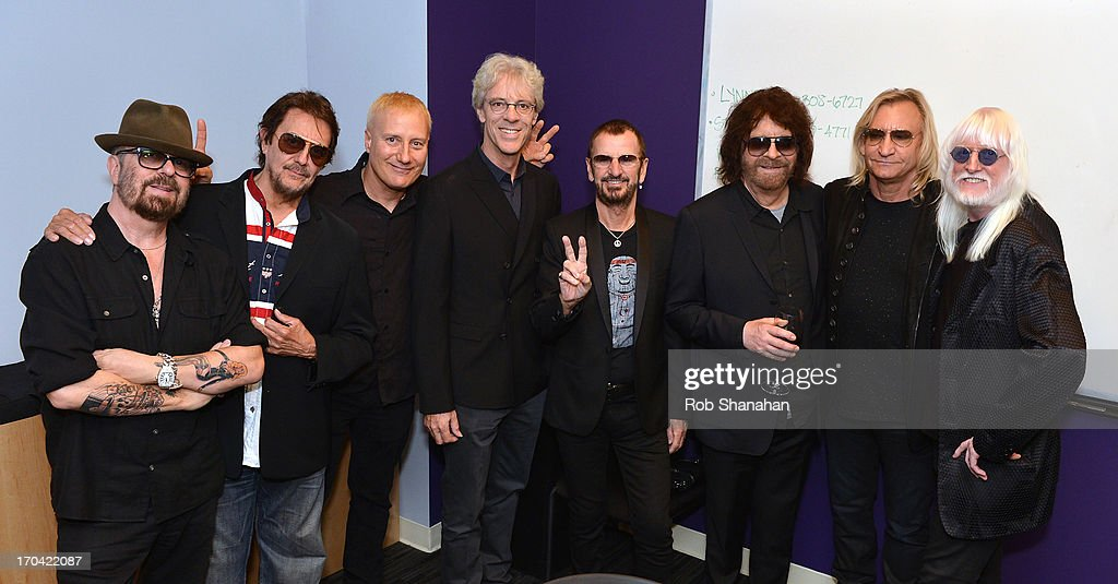 Dave Stewart, <a gi-track='captionPersonalityLinkClicked' href=/galleries/search?phrase=Jim+Keltner&family=editorial&specificpeople=4415090 ng-click='$event.stopPropagation()'>Jim Keltner</a>, Gregg Bissonette, <a gi-track='captionPersonalityLinkClicked' href=/galleries/search?phrase=Stewart+Copeland&family=editorial&specificpeople=228804 ng-click='$event.stopPropagation()'>Stewart Copeland</a>, <a gi-track='captionPersonalityLinkClicked' href=/galleries/search?phrase=Ringo+Starr&family=editorial&specificpeople=92463 ng-click='$event.stopPropagation()'>Ringo Starr</a>, <a gi-track='captionPersonalityLinkClicked' href=/galleries/search?phrase=Jeff+Lynne&family=editorial&specificpeople=1573357 ng-click='$event.stopPropagation()'>Jeff Lynne</a>, <a gi-track='captionPersonalityLinkClicked' href=/galleries/search?phrase=Joe+Walsh+-+Singer&family=editorial&specificpeople=223888 ng-click='$event.stopPropagation()'>Joe Walsh</a> and <a gi-track='captionPersonalityLinkClicked' href=/galleries/search?phrase=Edgar+Winter&family=editorial&specificpeople=829829 ng-click='$event.stopPropagation()'>Edgar Winter</a> attend 'Ringo: Peace & Love' at The GRAMMY Museum on June 12, 2013 in Los Angeles, California.