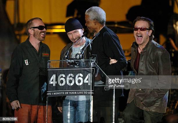 Dave Stewart Nelson Mandella and Bono