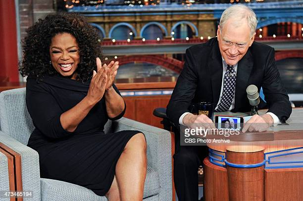 Dave takes the opportunity to grab a selfie with talk show legend Oprah Winfrey when she makes her final appearance on the Late Show with David...