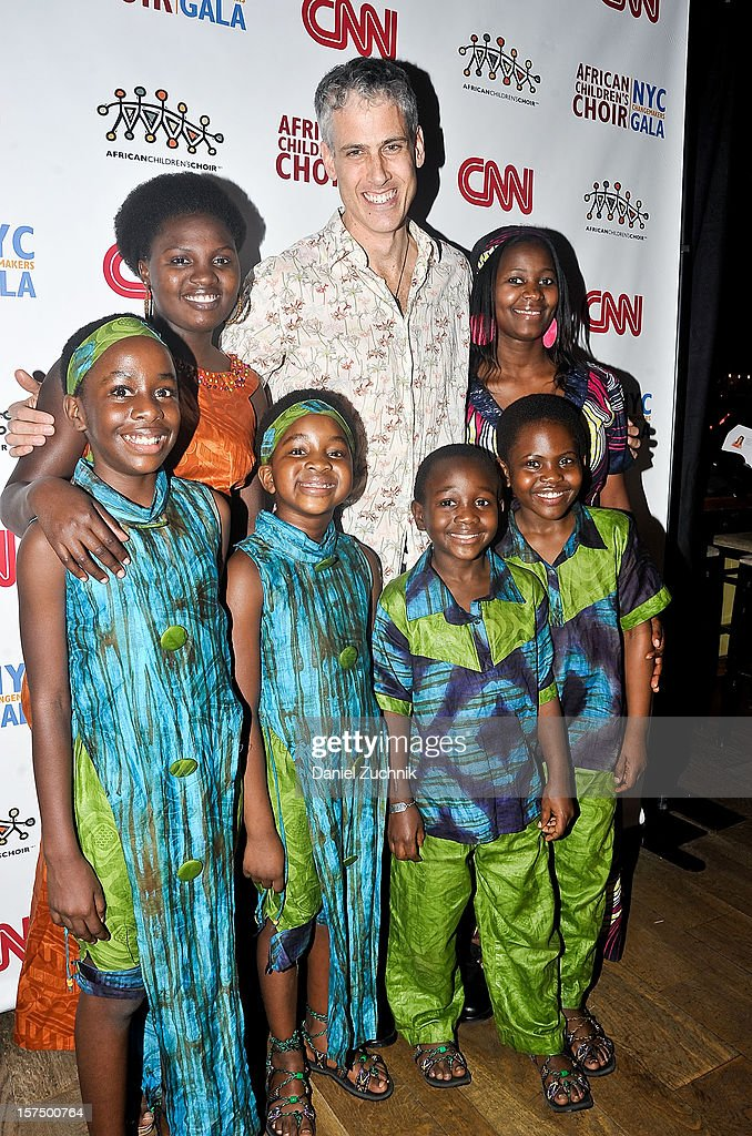 Dave Travis and the African Children's Choir attend the 4th annual African Children's Choir Fundraising Gala at City Winery on December 3, 2012 in New York City.