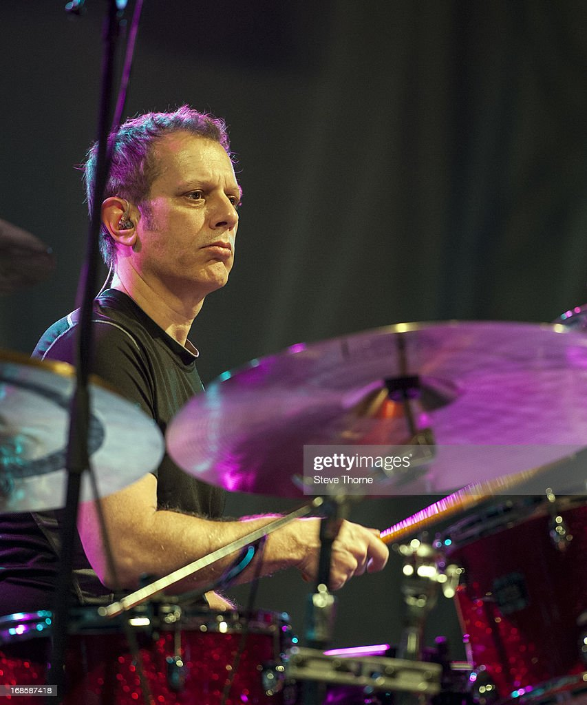 Dave Weckl performs with Mike Stern on stage on Day 5 of Cheltenham Jazz Festival on May 5, 2013 in Cheltenham, England.