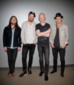 Dave Welsh Ben Wysocki Isaac Slade and Joe King of the rock band The Fray perform at the 1043 MY FM Soul By Ludacris Headphones Studio on January 15...
