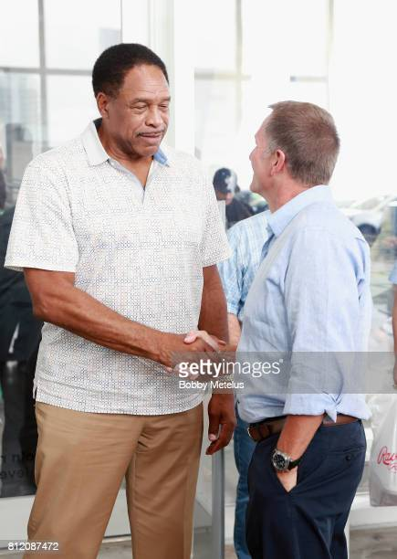 Dave Winfield and CEO President of New Era Cap Chris Koch attend the New Era Cap X Fear Of God Pop Up at Alchemist on July 10 2017 in Miami Beach...