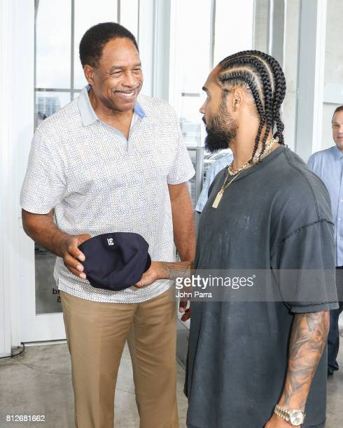 Dave Winfield and Jerry Lorenzo attend the New Era Collaborates With Fear Of God To Honor MLB All Stars on July 10 2017 in Miami Beach Florida