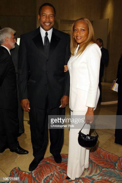 Dave Winfield and wife during Friends of Sheba Medical Center Annual awards Gala Honoring filmmaker William Freidkin at Beverly Hilton in Beverly...