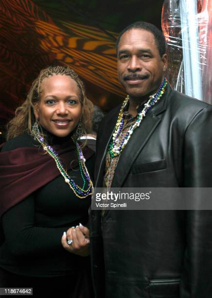 Dave Winfield and wife Tonya during 2004 Mayors Mardi Gras and 9th Annual Getty House Foundations City of Angels Awards Ceremony at The Getty House...