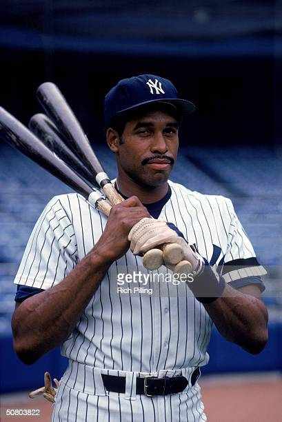 Dave Winfield of the New York Yankees poses for a portrait at Yankee Stadium in the Bronx New York circa 198190