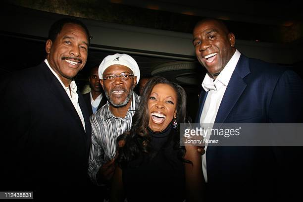 Dave Winfield Samuel L Jackson Star Jones and Magic Johnson **Exclusive**