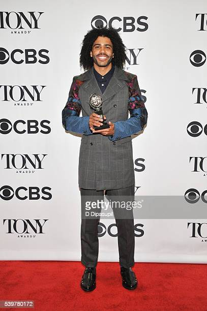 Daveed Digg poses in the press room with his award at the 70th Annual Tony Awards at the Beacon Theatre on June 12 2016 in New York City
