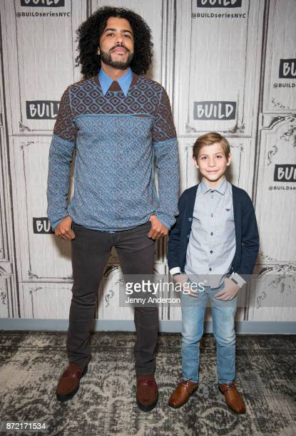 Daveed Diggs and Jacob Tremblay attend AOL Build at Build Studio on November 9 2017 in New York City