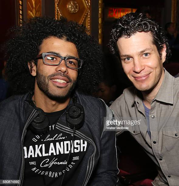 Daveed Diggs and Thomas Kail greet thirteen hundred students from New York City public schools gathered for a 'Hamilton' matinee performance on...