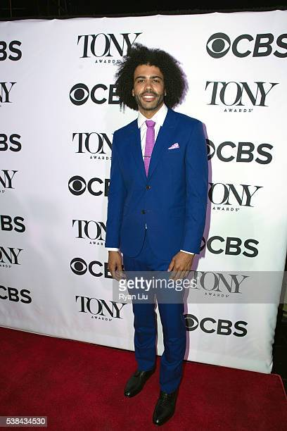 Daveed Diggs attends the 2016 Tony Honors cocktail party at The Diamond Horseshoe on June 6 2016 in New York City