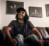 Daveed Diggs in the green room before taking the stage to emcee the Brave New Voices poetry slam finals at the Kennedy Center on July 2016 in...