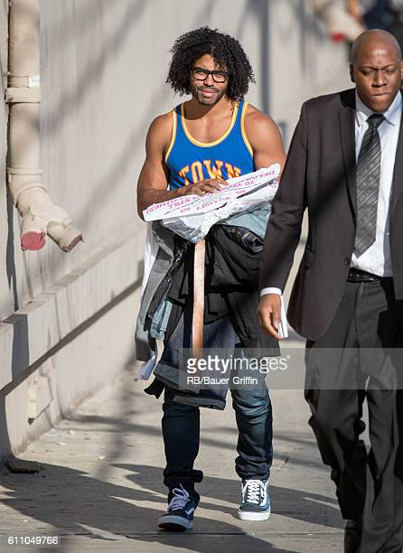 Daveed Diggs is seen at 'Jimmy Kimmel Live' on September 28 2016 in Los Angeles California