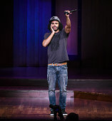 Daveed Diggs onstage to emcee the Brave New Voices poetry slam finals at the Kennedy Center on July 2016 in Washington DC
