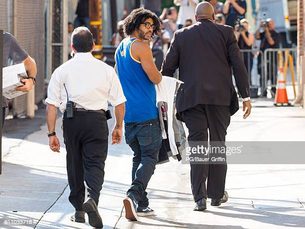 Daveed Diggs seen arriving at 'Jimmy Kimmel Live' on September 28 2016 in Los Angeles California