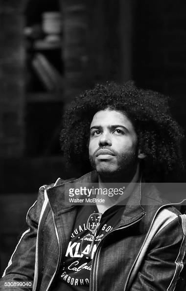 Daveed Diggs speaks to thirteen hundred students from New York City public schools gathered for a 'Hamilton' matinee performance on Broadway for the...