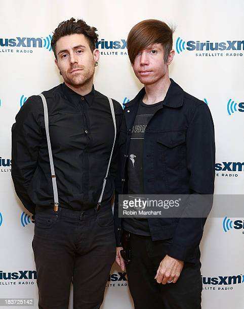 Davey Havok and Jade Puget of AFI visit at SiriusXM Studios on October 9 2013 in New York City