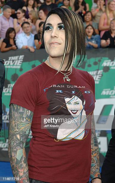 Davey Havok of AFI during 2006 MTV Movie Awards Red Carpet at Sony Studios in Culver City California United States