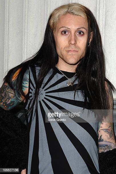 Davey Havok of AFI during Pop Icon Gwen Stefani Previews Harajuku Lovers Apparel Line Arrivals at The Hollywood Museum in Hollywood California United...