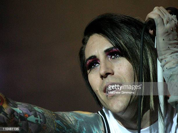 Davey Havok of AFI during San Diego Street Scene 2006 Day 1 at Qualcomm Stadium in San Diego California United States