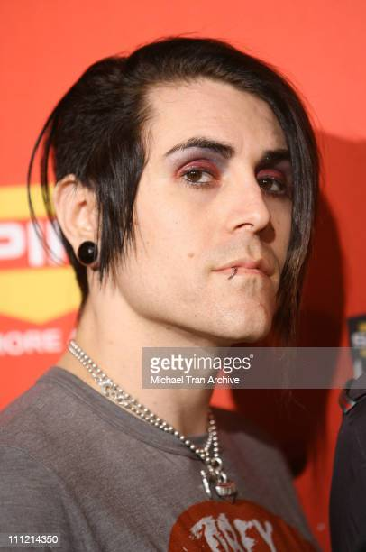 Davey Havok of AFI during Spike TV's 2006 Video Game Awards Arrivals at The Galen Center in Los Angeles California United States