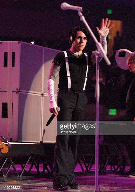 Davey Havok of AFI during Spike TV's 2006 Video Game Awards Hosted By Samuel L Jackson Show at The Galen Center in Los Angeles California United...
