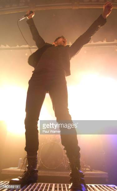Davey Havok of AFI performs at Saint Andrews Hall on September 13 2013 in Detroit Michigan