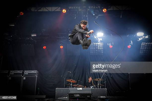 Davey Havok of AFI performs on Day 3 of the Osheaga Music and Art Festival on August 3 2014 in Montreal Canada