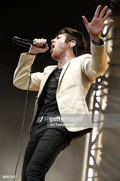 Davey Havok of AFI performs on stage at the Sydney leg of the Soundwave Festival at Eastern Creek Raceway on February 21 2010 in Sydney Australia