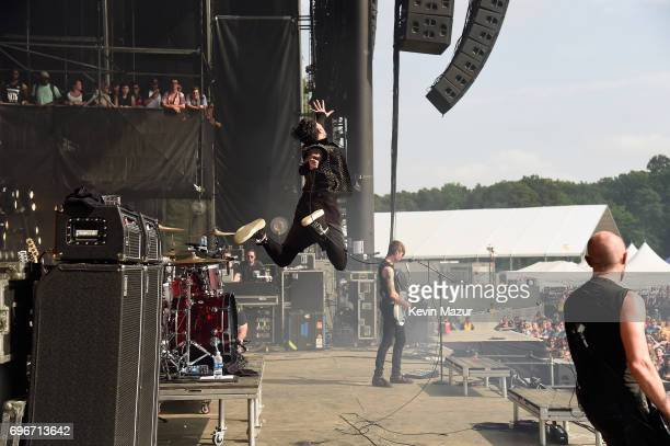 Davey Havok of AFI performs onstage during the 2017 Firefly Music Festival on June 16 2017 in Dover Delaware