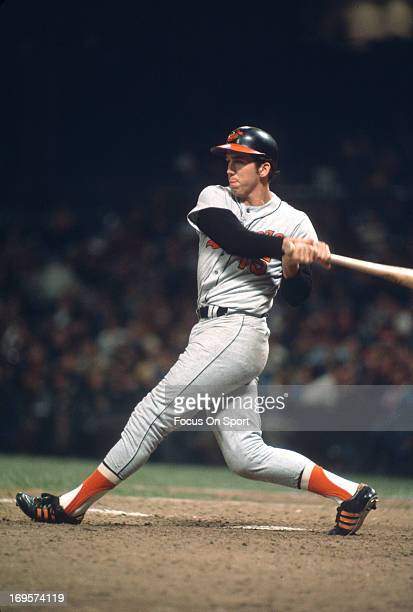 Davey Johnson of the Baltimore Orioles bats during an Major League Baseball game circa 1969 Johnson played for the Orioles from 196572