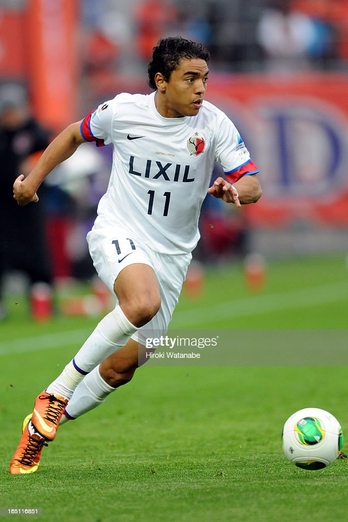 Davi Jose Silva do Nascimento of Kashima Antlers in action during the J.League match between Omiya Ardija and Kashiwa Reysol at Nack 5 Stadium Omiya on March 30, 2013 in Saitama, Japan.