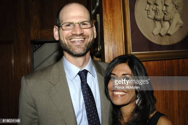 David Abraham and Sonya Gandhi attend The American Swiss Foundation Sixty Fifth Annual Gala Dinner at Union League Club on May 6 2010 in New York City