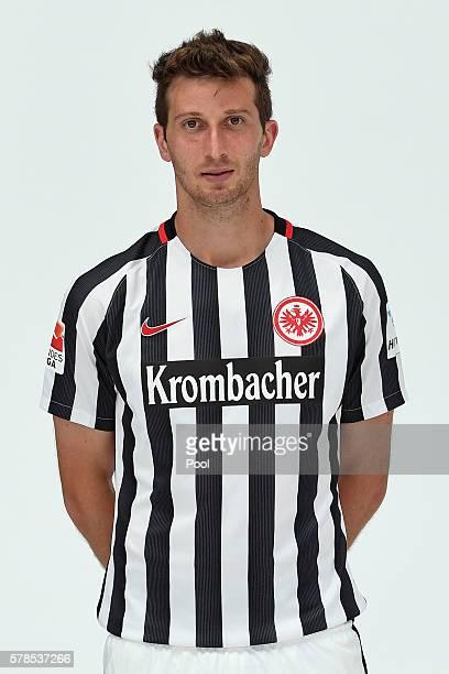 David Abraham poses during the Eintracht Frankfurt Team Presentation on July 21 2016 in Frankfurt am Main Germany