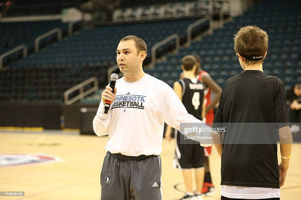 David Adelman, Assistant Coach of the Minnesota Timberwolves directs a Coaches Clinic during NBA Canada Series 2012 on October 23, 2012 at the MTS Centre in Winnipeg, Manitoba, Canada.