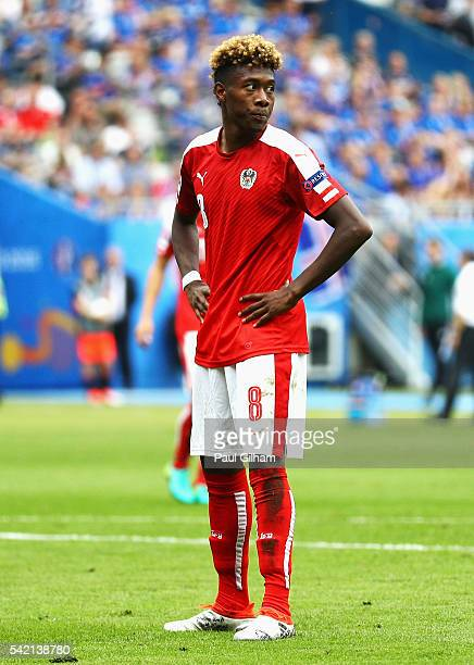David Alaba of Austria in action during the UEFA EURO 2016 Group F match between Iceland and Austria at Stade de France on June 22 2016 in Paris...