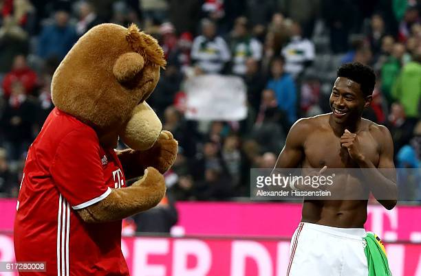 David Alaba of Bayern Muenchen looks on after the Bundesliga match between Bayern Muenchen and Borussia Moenchengladbach at Allianz Arena on October...