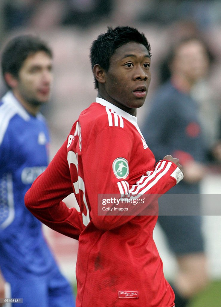 David Alaba of FC Bayern Muenchen II during the 3Liga match between SpVgg Unterhaching and Bayern Muenchen II at the Generali Sportpark on January 24...