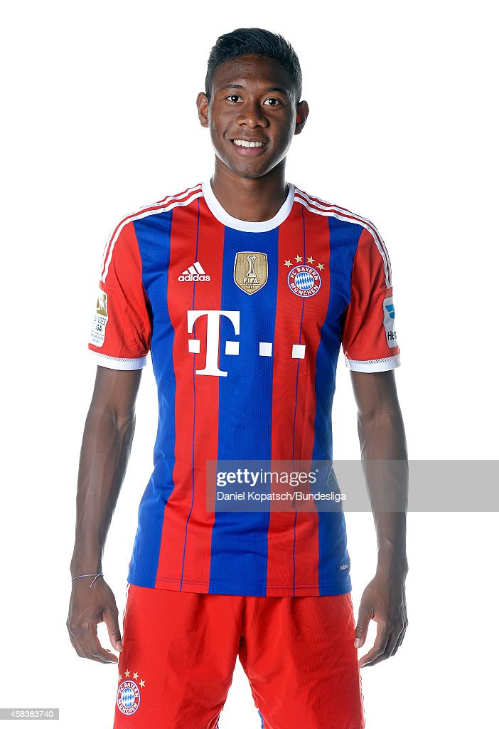 David Alaba poses during the FC Bayern Muenchen Team Presentation for DFL on August 9, 2014 in Munich, Germany.
