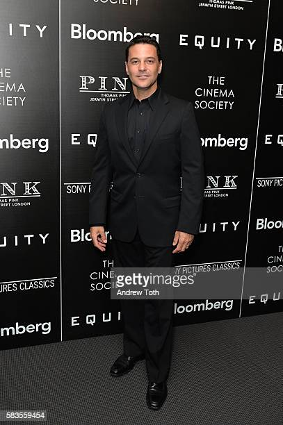 David Alan Basche attends a screening of Sony Pictures Classics' 'Equity' hosted by The Cinema Society with Bloomberg and Thomas Pink on July 26 2016...